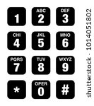 telephone numbers vector icon | Shutterstock .eps vector #1014051802
