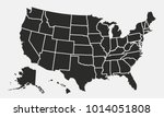 usa map with states isolated on ... | Shutterstock .eps vector #1014051808