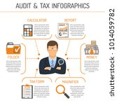 auditing  tax  accounting... | Shutterstock .eps vector #1014059782