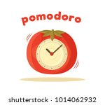 pomodoro clock card colored... | Shutterstock .eps vector #1014062932