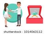 proposal of boyfriend  poster... | Shutterstock .eps vector #1014063112