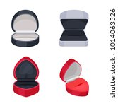 various ring boxes flat vector... | Shutterstock .eps vector #1014063526