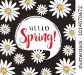 hello spring floral vector... | Shutterstock .eps vector #1014070672