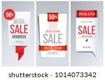 abstract red bubble speech... | Shutterstock .eps vector #1014073342