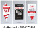 abstract red bubble speech...   Shutterstock .eps vector #1014073348