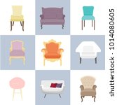 colorful set of different... | Shutterstock .eps vector #1014080605