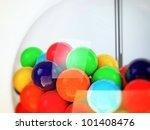 gum ball inside a glass ball - stock photo