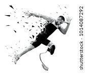 explosive start athlete runner... | Shutterstock .eps vector #1014087292