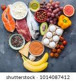 healthy nutrition concept.... | Shutterstock . vector #1014087412