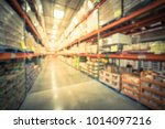 blurred wholesale store aisle... | Shutterstock . vector #1014097216