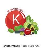 vitamin k  menaquinone . the... | Shutterstock .eps vector #1014101728