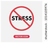 no stress vector icon... | Shutterstock .eps vector #1014105976