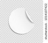 blank sticker  empty...   Shutterstock .eps vector #1014107422