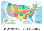 vector map of the united states ... | Shutterstock .eps vector #1014108832