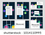abstract vector layout... | Shutterstock .eps vector #1014110995