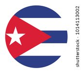simple vector button flag   cuba | Shutterstock .eps vector #1014113002