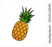 vector illustration of cute... | Shutterstock .eps vector #1014113245