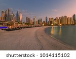jumeirah beach residence jbr on ... | Shutterstock . vector #1014115102