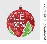 christmas sale decoration ball  ... | Shutterstock .eps vector #1014116146