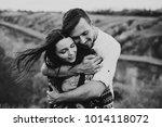 happy newlyweds have fun...   Shutterstock . vector #1014118072