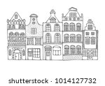 a hand drawn history street... | Shutterstock .eps vector #1014127732