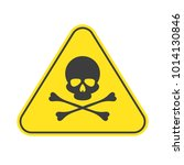 danger vector sign. caution... | Shutterstock .eps vector #1014130846