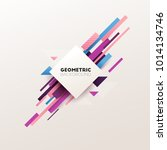 abstract geometric background.... | Shutterstock .eps vector #1014134746