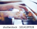 close up of a man  hands plays... | Shutterstock . vector #1014139528