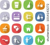 flat vector icon set   cleanser ... | Shutterstock .eps vector #1014143272