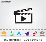 movie clap   vector icon on a... | Shutterstock .eps vector #1014144148