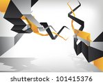 an abstract and futuristic... | Shutterstock .eps vector #101415376