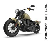 classic motorbike isolated on... | Shutterstock . vector #1014169582