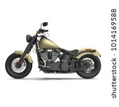 classic motorbike isolated on...   Shutterstock . vector #1014169588