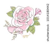 rose flower vector decorative... | Shutterstock .eps vector #1014180442