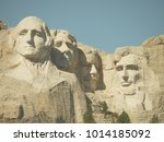 on the top of mount rushmore in ... | Shutterstock . vector #1014185092