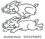 animal coloring book | Shutterstock . vector #1014194692