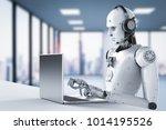 3d rendering humanoid robot... | Shutterstock . vector #1014195526