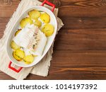 Fish Cod Baked In The Oven Wit...