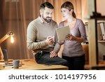 feeling happiness. attractive... | Shutterstock . vector #1014197956