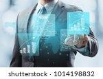 business data process management | Shutterstock . vector #1014198832