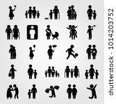 humans vector icon set. man... | Shutterstock .eps vector #1014203752