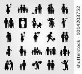 humans vector icon set. man...   Shutterstock .eps vector #1014203752