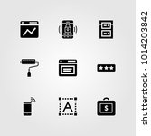 web design vector icon set.... | Shutterstock .eps vector #1014203842