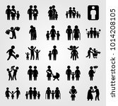 humans vector icon set. woman ... | Shutterstock .eps vector #1014208105