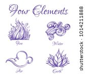four elements. fire  water  air ... | Shutterstock .eps vector #1014211888