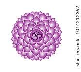 sahasrara chakra icon symbol... | Shutterstock .eps vector #1014212362