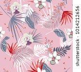 hawaii print vector seamless... | Shutterstock .eps vector #1014212656