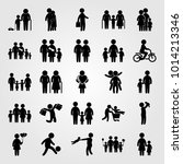humans vector icon set. girl ... | Shutterstock .eps vector #1014213346