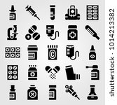 medical vector icon set. test... | Shutterstock .eps vector #1014213382