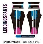 leggings pants fashion vector... | Shutterstock .eps vector #1014216148